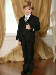 Boys Double Line Pin Stripe Formal Suit Set