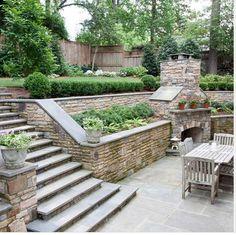 stone backyard