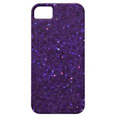 Dark Purple Crystal Mosaic iPhone 5 Case