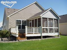 I like the way the deck comes off the screened porch