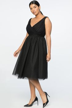 Plus Size Little black Dress With Deep-V-Neck style. If  you are looking for a little black dress for a special event this is a wonder selection. This special occasion little black dress fits sizes plus. A5 #PlusSizeDresses #getthelook #PlusSize #PlusSizeFashion #PlusSizeStyle #CurvyGirl #boldcurvyfashionista #curvesarein #curvesfordays #curvy #curvyfashionista #Fashion #Style #PlusSizeDresses