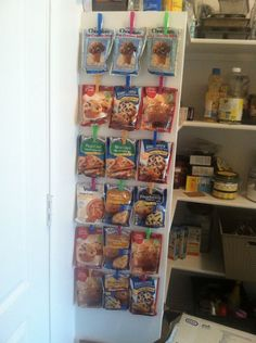 The start of pantry organization - I needed some where to put all these packets of random mixes that were on sale and this was my idea. Easy to see and not just…