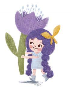 Hello, April  Finally, Spring is here! 어느새, 4월....이곳도 드디어 봄 기운이 조금 느껴진다 ㅎㅎ . . . #illustration #illustrator #illustratorsoninstagram #illustagram #illust #procreate #spring #girl #flower #kidlitart #cute #jjlynndesign #drawing #dailydrawing #doodle #kidsillustration #childrensillustration #일러스트 #삽화 #동화 #드로잉 #데일리드로잉 #그림 #그림쟁이 #소녀 #꽃 #봄 #프로크리에이트 #제이제이린 #일러스트레이터