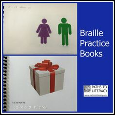 Braille practice books are a great way to reinforce reading skills, using vocabulary from lessons and illustrations. Visit pinterest.com/wonderbabyorg for more braille ideas!
