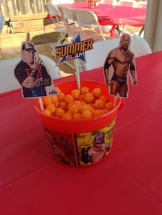 Wwe party center pieces