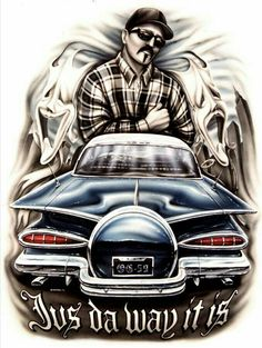 Chicano Drawings, Chicano Tattoos, Chicano Art, Car Drawings, Drawing Sketches, Aztecas Art, Rockabilly, Cholo Art, Cholo Style