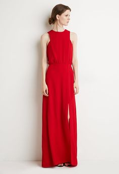 Front-Slit Maxi Dress - Shop All - 2000145773 - Forever 21 EU English