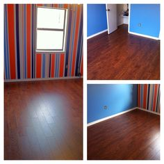 Striped Accent Wall For Baby Boy Nursery Okc Thunder Themed