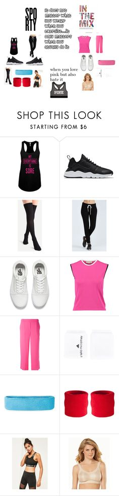 """""""Sports"""" by nyahcool15 ❤ liked on Polyvore featuring NIKE, Monrow, Vans, Emilio Pucci, P.A.R.O.S.H., adidas, Missguided, Anita and Victoria's Secret"""