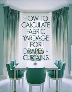 How to Calculate Yardage for Windows, curtains, draperies. If calculating yardage intimidates you (me, too) then go here because you get to think if it in COLORS and not just NUMBERS! Brilliant! (Right-brained people; rejoice !!)