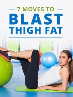 7 Moves to Blast Thigh Fat- Quick Effective Leg Workouts. #legworkouts #thighs
