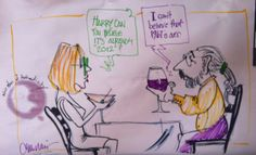 I first drew this little scene for New Years 2000.