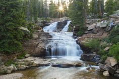 Upper Provo River Falls is one of Utah's most majestic waterfalls. It's located about 23 miles from Kamas, up the Mirror Lake Scenic Byway in the High Uintas. Brighton Resort, Mirror Lake, Beautiful Landscapes, Places To See, Beautiful Places, National Parks, Hiking, Vacation, Parking Lot