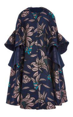 Oversized Jacquard Coat by DELPOZO for Preorder on Moda Operandi