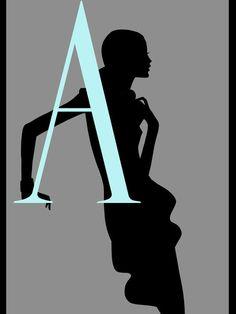 Silhouette Alphabet A
