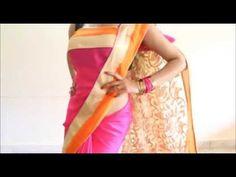Perfect Bollywood Style Saree Wearing:Quick Stylist Sari Draping Method