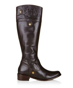 Women's Carlyle brown leather boots by Hunter on secretsales.com