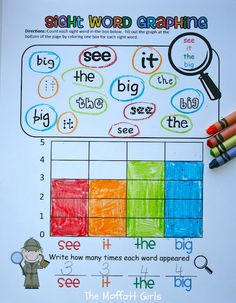 Graphing your sight words - this is so easy to recreate and make fit my specific needs! AWESOME