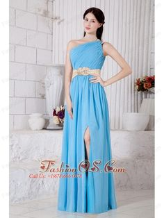 Aqua Blue Empire One Shoulder Belt Prom / Evening Dress Floor-length Chiffon- $137.14  http://www.fashionos.com  cheap plus size 2013 prom homecoming gowns | 2013 junior prom pageant dress | 2013 2014 prom cocktail dresses | 2013 sexy custom made prom cocktail dresses for sale | 2013 discount prom cocktail dress | ruched floor length prom dress | 2013 2014 prom cocktail dresses | blue floor length prom dress | 2014 2015 prom cocktail dresses