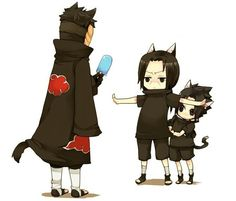 Stop right there! D:< Tobi, Itachi and Sasuke