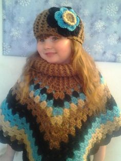 Looking for your next project? You're going to love Child's Cowl Neck Poncho by designer Purday Thangs. - via @Craftsy