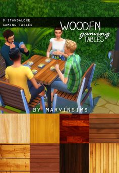 Wooden Gaming Tables at Marvin Sims via Sims 4 Updates #Sims4