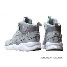 size 40 46da9 eef53 Nike Air Huarache High Top Grey White Mens Shoes Copuon