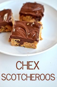 Yammie's Glutenfreedom: Chex Scotcheroos -- good treat I can make that we can enjoy and no one else will know/care that we can.