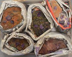 6 Pc Beautiful Cubed Purple Fluorite Crystal Specimen Flat Mapimi Durango Mexico