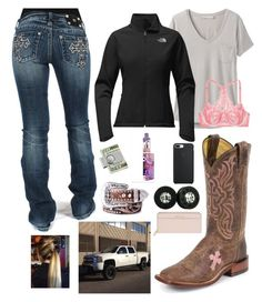 A fashion look from January 2018 featuring t shirts, The North Face and Victoria's Secret. Browse and shop related looks. Country Girl Outfits, Country Fashion, Cowgirl Outfits, Western Outfits, Country Girls, Cowgirl Clothing, Cowgirl Fashion, Country Life, Country Music