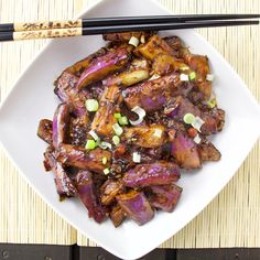 Szechuan eggplants is a great chinese dish.