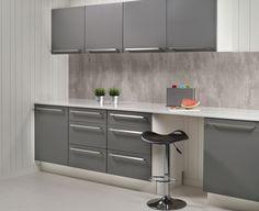 2204 S Cracked Cement Fibo trespo. Kitchen Inspirations, Kitchen Board, Kitchen Cabinets, Furniture, Kitchen Wall, Kitchen, Interior, Kitchen Range, Home Decor