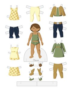 Paper Doll School: Toddler Fashion Friday - Octavia