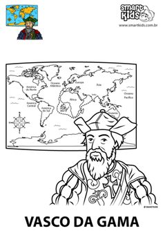 Vasco da Gama History For Kids, 4 Kids, Explore, Portuguese Food, Fun, Scouts, Teaching Ideas, School, Map Activities