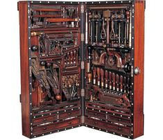 If Henry O. Studley had lived 150 years later, he'd be designing circuit boards. As it stands, Studley was born in 1838 and worked as a piano maker, carpenter and mason. Sometime in the 1890s he designed this amazing tool cabinet, which has become known in woodworking circles as the...