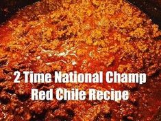 Red Beef Chili Recipe (Two Years National Champion Recipe) This red beef chili recipe (aka Sahara Chili) won the CASI Terilingua International Chili championship in 2005 & If you're looking to. Beef Chili Recipe, Chilli Recipes, Best Hot Dog Chili Recipe, Texas Chili Recipe No Beans, No Bean Chili, Paula Deen Chili Recipe, One Pot Dinners, Chili Con Carne, Entrees