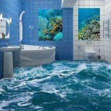 Nach 3d Boden Wandbild Tapete Meer Wasser Welle Bad 3d Boden Wandbild Pvc Wasserdicht Self Adhesive Vinyl Tapete H Badezimmer 3d Badezimmer 3d Boden Wandtapete