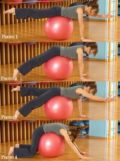 Swiss ball : exercices de fitball avec un swiss ball - Galena U. Quick Workout At Home, Best Cardio Workout, Workout Videos, Gym Workouts, At Home Workouts, Ball Workouts, Exercices Swiss Ball, Healthy Beauty, Yoga Tips