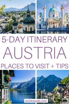 Planning a 5-day trip to Austria? Then check out this Austria itinerary to find out where to go and what to see - this post also includes many travel tips like how to get around, where to stay and more. I 5 days in Austria I Places to visit in Austria, Vienna, Salzburg and Hallstatt Europe travel tips European Travel Tips, European Vacation, Europe Travel Guide, European Destination, Travel Guides, Spain Travel, Travel Destinations, Travel Advice, Visit Austria
