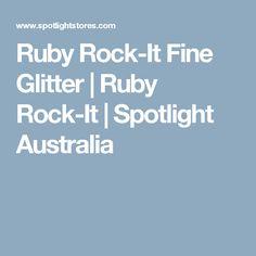 Ruby Rock-It Fine Glitter | Ruby Rock-It | Spotlight Australia