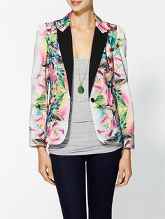Line & Dot Tropical Paradise Blazer