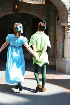Peter Pan and Wendy <3 You have No idea how much I love this picture!!!!