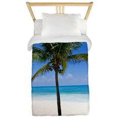 Bahamas Palm Twin Duvet (not sure if this is available for Queen or King size beds)