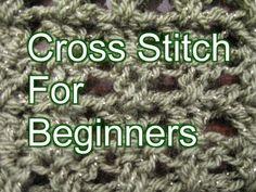 ▶ Crochet Cross Stitch - Slow Motion Crochet - YouTube