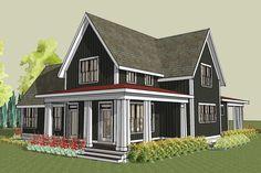 simple farmhouse plan with wrap around porch