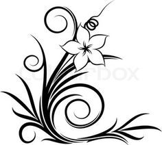burgundy floral swirl clip art vector clip art online royalty free public domain vinyl. Black Bedroom Furniture Sets. Home Design Ideas