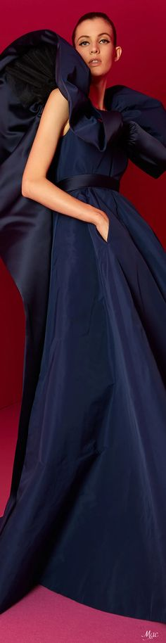Alexis Mabille, Cocktail Outfit, Glamour, Navy Color, Navy Blue, Fashion Labels, French Fashion, Fashion 2020, Midnight Blue