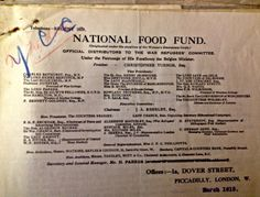 """""""The National Food Fund"""". Visit our archive and uncover how food provisions were assigned across the city and monitored throughout the war period. Libraries, Period, Archive, Collections, War, Explore, City, Food, Essen"""