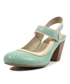 If Mary Jane married a Heel :) Mint & Cream Zeal Pump on #zulily! #zulilyfinds