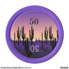 Purple Desert High End Poker Chips
